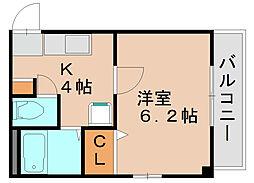 アクセス箱崎[3階]の間取り