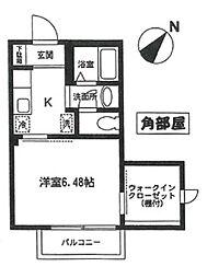 コーラルヒルズ東戸塚 シングルステージ[1階]の間取り