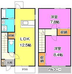 [テラスハウス] 東京都練馬区三原台3丁目 の賃貸【/】の間取り
