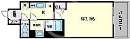プリムール新深江 3階1Kの間取り