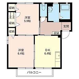 メゾン・ド・C I[2階]の間取り