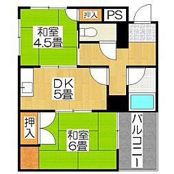 KTマンション[100号室]の間取り