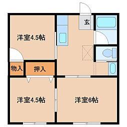 パナハイツ金井[2階]の間取り