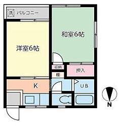 新昇マンション[303号室]の間取り