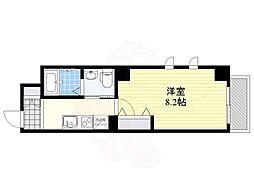 朱雀楼 東京 8階1Kの間取り