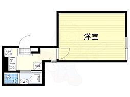 JR中央線 荻窪駅 徒歩10分の賃貸マンション 4階1Kの間取り