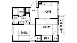 マニャーナ夙川[202号室]の間取り