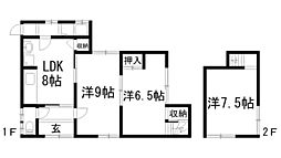 [一戸建] 兵庫県川西市平野3丁目 の賃貸【兵庫県 / 川西市】の間取り