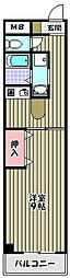サンパティークちぐさII[3階]の間取り
