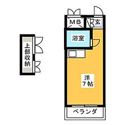 メゾン薬院[3階]の間取り