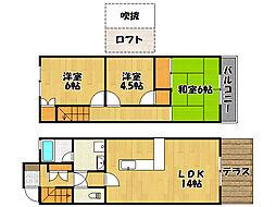 [テラスハウス] 兵庫県神戸市西区大津和2丁目 の賃貸【兵庫県 / 神戸市西区】の間取り