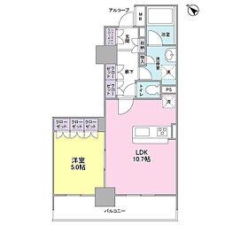 グレンパークG-WEST[3階]の間取り