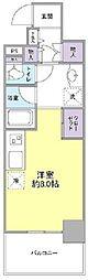 横浜市営地下鉄ブルーライン センター北駅 徒歩5分の賃貸マンション 5階ワンルームの間取り