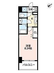 Osaka Metro御堂筋線 西中島南方駅 徒歩7分の賃貸マンション 4階1Kの間取り