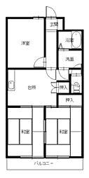 ハイツ新目覚[2階]の間取り