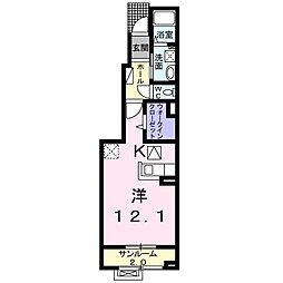 福町アパート[0103号室]の間取り