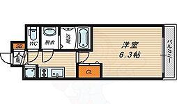JR大阪環状線 京橋駅 徒歩7分の賃貸マンション 11階1Kの間取り