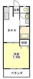コーポ新町II[1階]の間取り