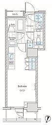 JR山手線 神田駅 徒歩5分の賃貸マンション 10階ワンルームの間取り