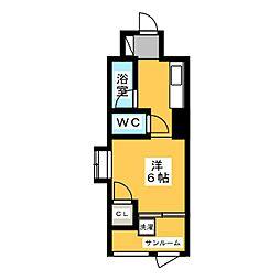 松屋ビル[3階]の間取り