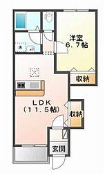 兵庫県姫路市御立中4丁目の賃貸アパートの間取り