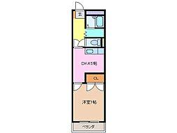 ロータリービルド松阪[5階]の間取り
