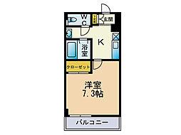 エストゥディオ平尾[6階]の間取り