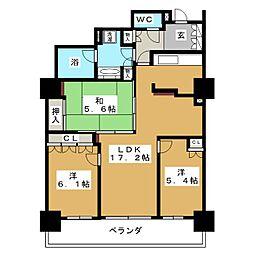 アップルタワーズ仙台 ブローディアタワー[17階]の間取り