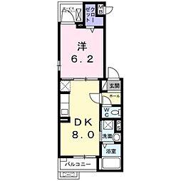 相鉄本線 大和駅 徒歩23分の賃貸アパート 2階1DKの間取り