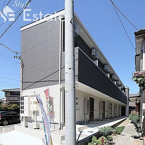 愛知県名古屋市瑞穂区井戸田町4丁目の賃貸アパートの外観