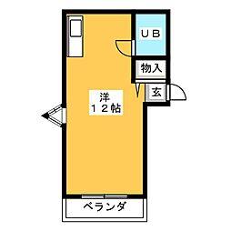 ノーブル夏生マンション[1階]の間取り