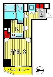 レオーネ金町[6階]の間取り
