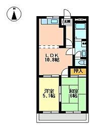 静岡県駿東郡長泉町竹原の賃貸アパートの間取り