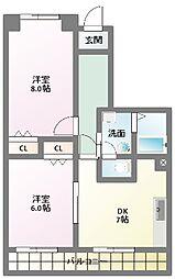 三幸マンション[3階]の間取り