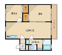 ホワイトベースA棟[1階]の間取り