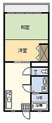 椎谷コーポ[205号室]の間取り
