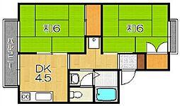 セジュール東代[2階]の間取り