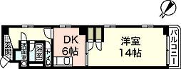 シャルマン白島[4階]の間取り