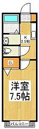 リシャールCoo[1階]の間取り