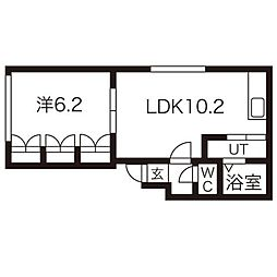 Lクルーザー[3階]の間取り