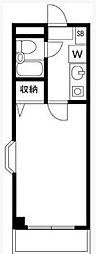 クリスタル東松原[2階]の間取り