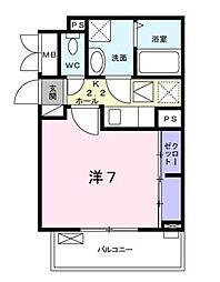 神奈川県相模原市南区相模台4の賃貸アパートの間取り