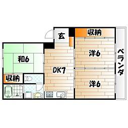大窄ビル[4階]の間取り