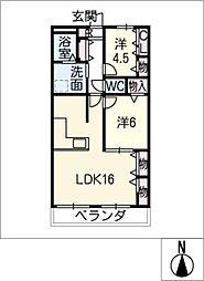 メゾン・ド・オーシマ[2階]の間取り