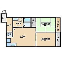 野田シャトルマンション A棟[305号室]の間取り