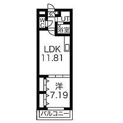 愛知県名古屋市緑区桶狭間北2丁目の賃貸マンションの間取り