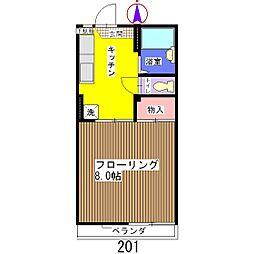 SKハイツ A棟[201号室]の間取り