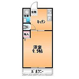コーポヤマモトIII[2階]の間取り