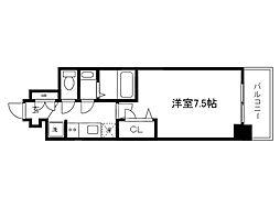 Osaka Metro中央線 堺筋本町駅 徒歩5分の賃貸マンション 11階1Kの間取り