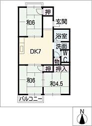 レジデンス藤[2階]の間取り